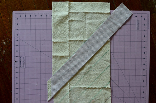 5. Place 2 strips, right sides together, align with a line