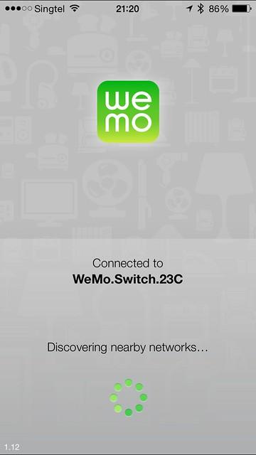 WeMo iOS App - Switch Setup