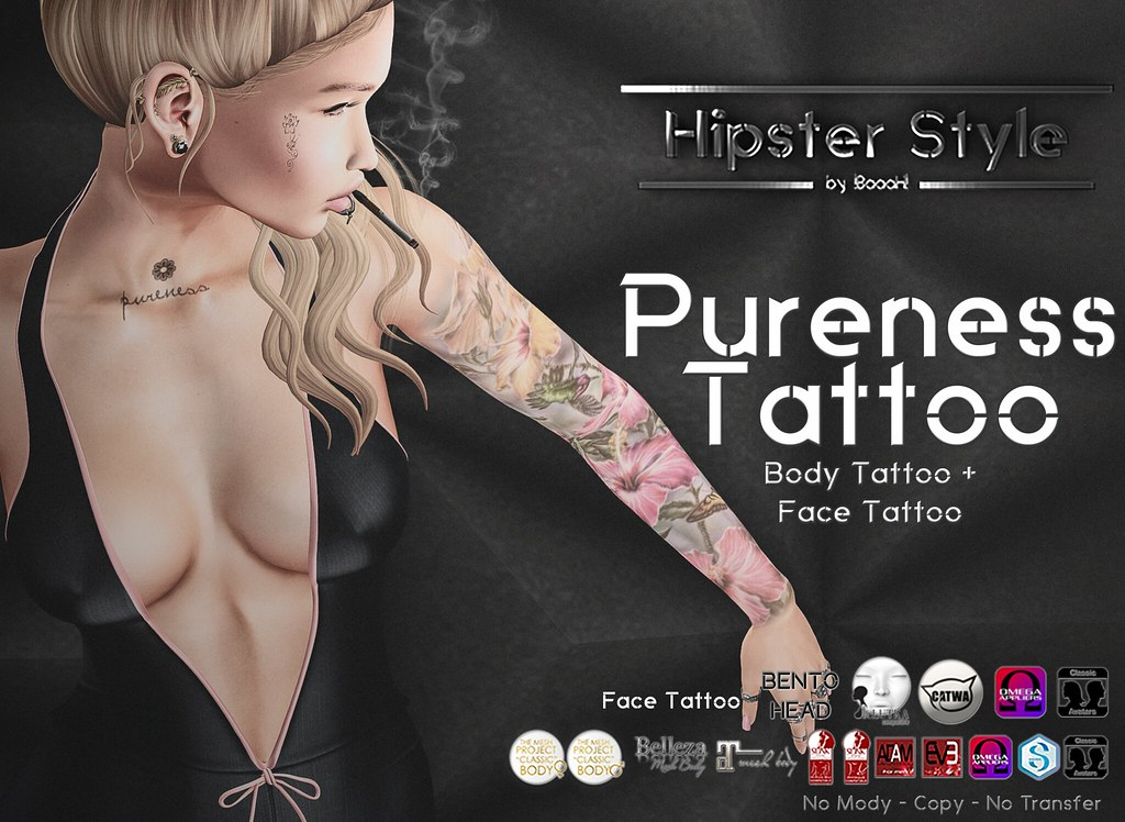 [Hipster Style] Pureness Tattoo - SecondLifeHub.com
