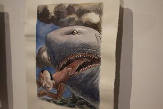 Illustration pour Pinocchio, Roland Topor, 1995 - Exposition Topor à la BnF