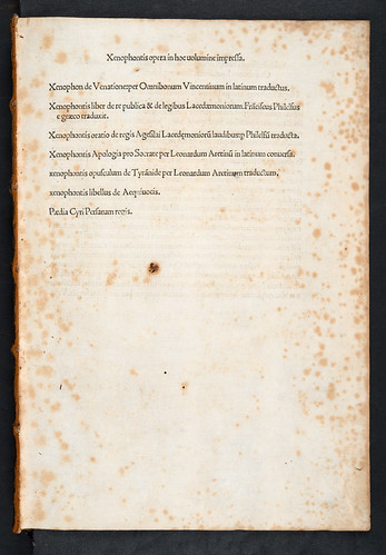 Table of contents of Xenophon: Opera varia