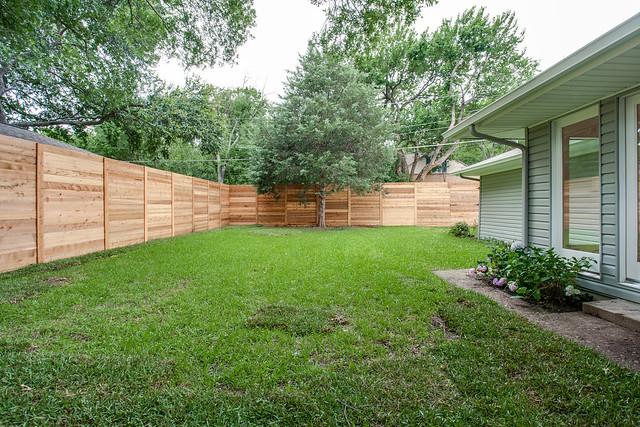 Horizontal Corrugated Metal Fence