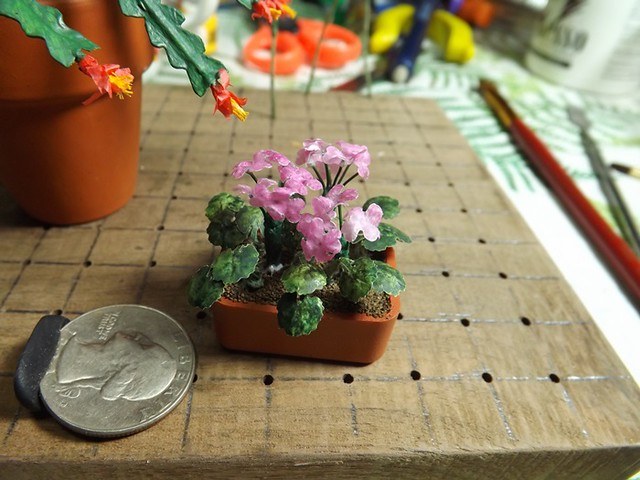 1 12 dollhouse scale geraniums