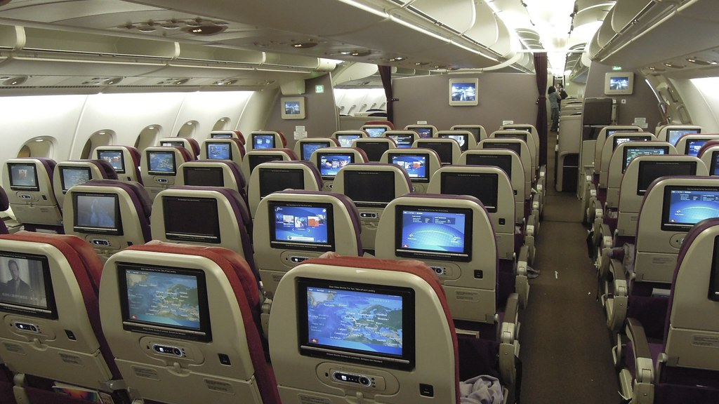 Mh A380 Upper Deck Economy Cabin Heathrow The Airbus