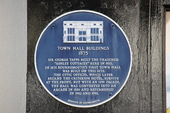 Photo of George Tapps and Bournemouth Town Hall blue plaque