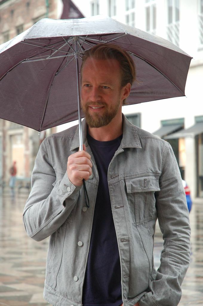 Martin in the Copenhagen rain 1