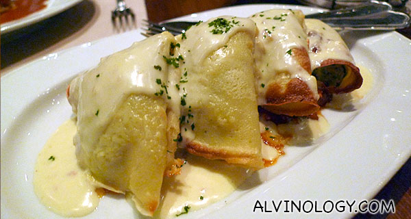 Pasta with filling