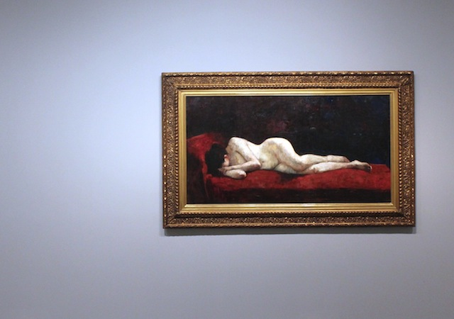 Lying Nude (1889) by Lesser Ury