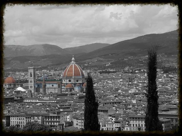 Florence-vue de San Miniato al monteRETRO