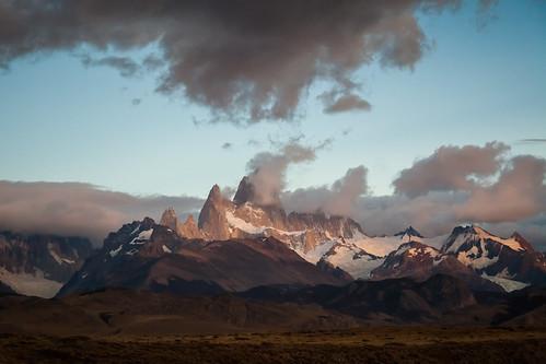 patagonia santacruz argentina ruta clouds sunrise landscape fitzroy paisaje mount amanecer cerro nubes 40 chaltén rn40