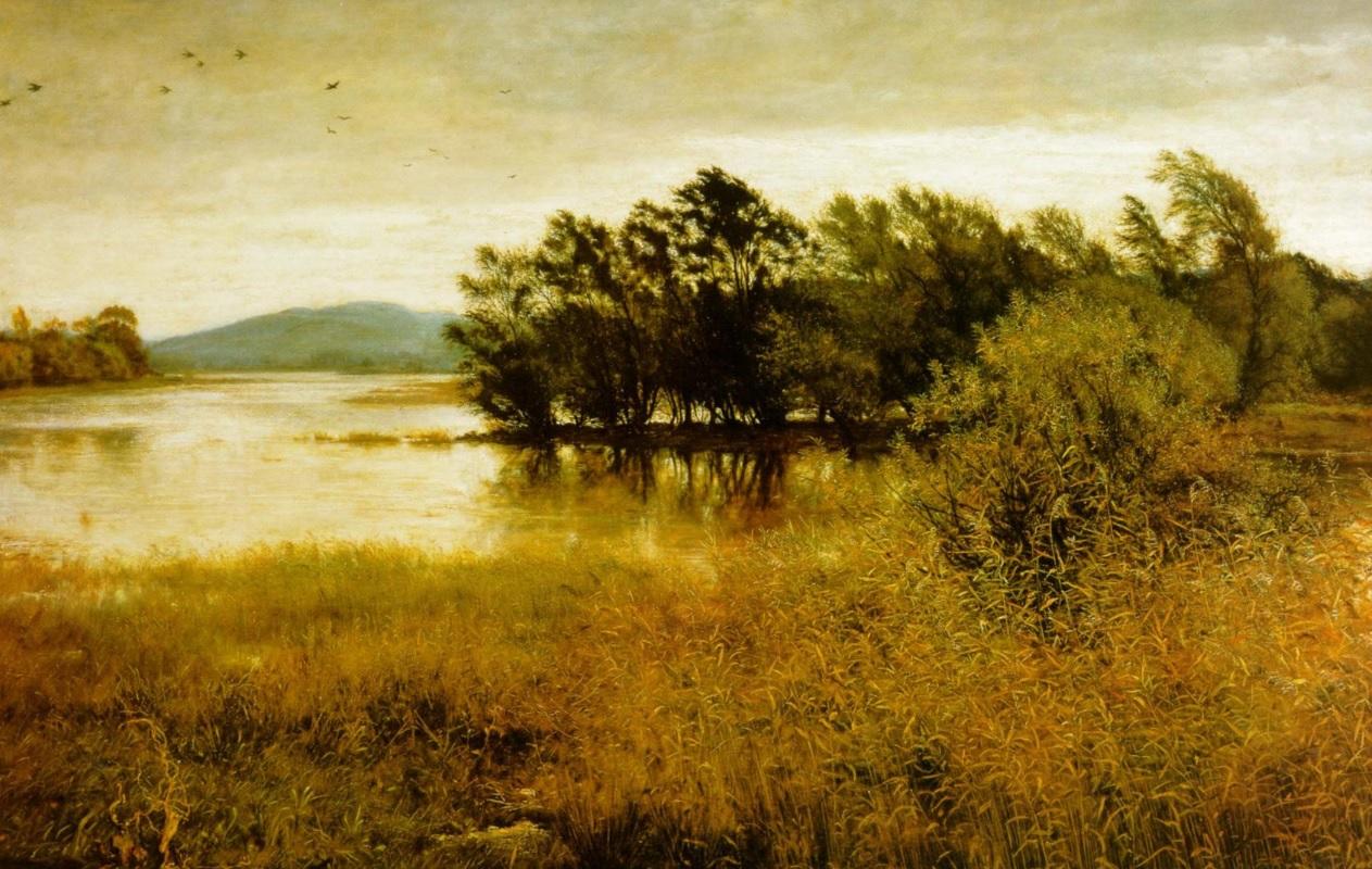 Orillas de un río en Octubre. Obra de John Everett Millais (1829-1896)
