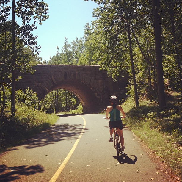 Biking the Carriage Trails #maine #acadia #mountdesertisland #bridge