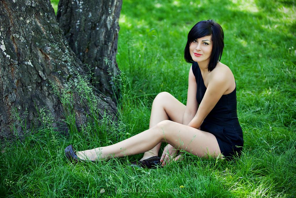 Фотосессия девушки на природе летом, фотосессия в Новосибирске