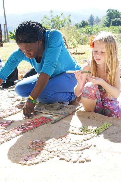 eg making a mosaic