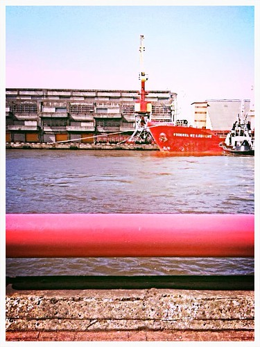 old red building water beautiful rose port river photography amazing ship view tube latvia anton filters ventspils iphone3gs isskop sherstobitov uploaded:by=flickrmobile flickriosapp:filter=nofilter portofventspils
