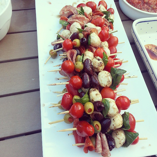 Antipasto Skewers #latergram #appetizer