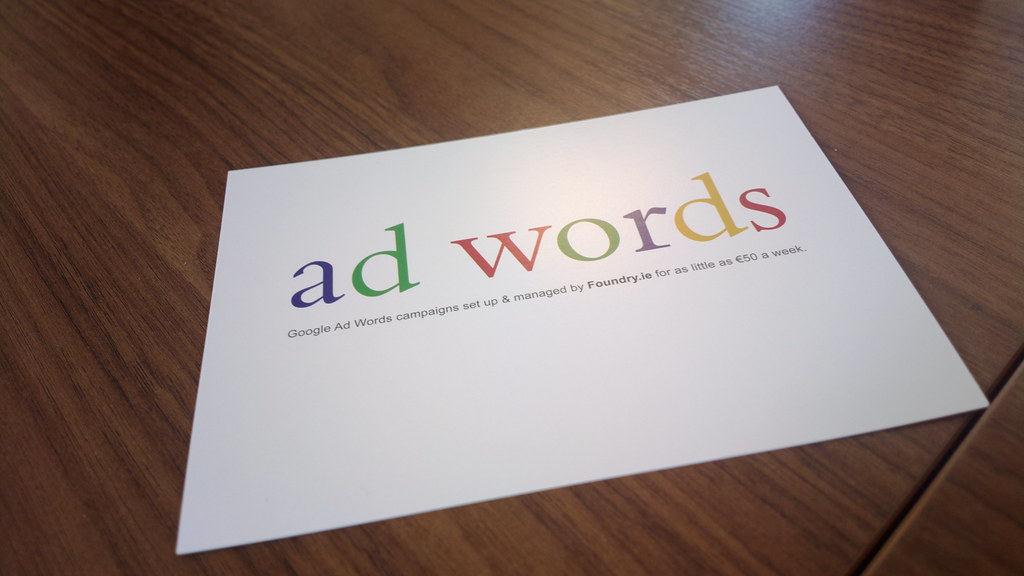 Google adwords postcard