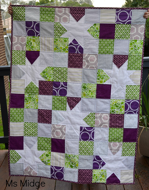 Wonky Star Cot Quilt