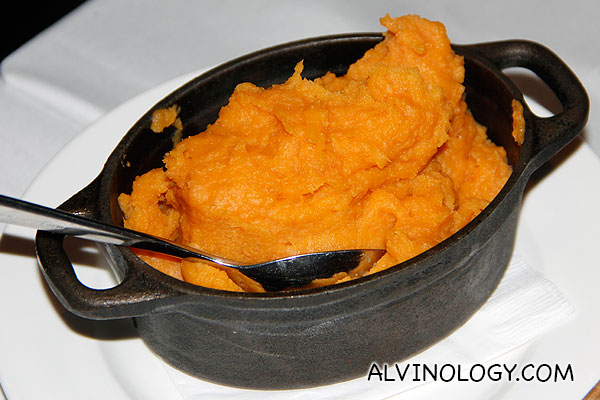 Kumara mash - traditional New Zealand sweet potato mash (S$11.50)