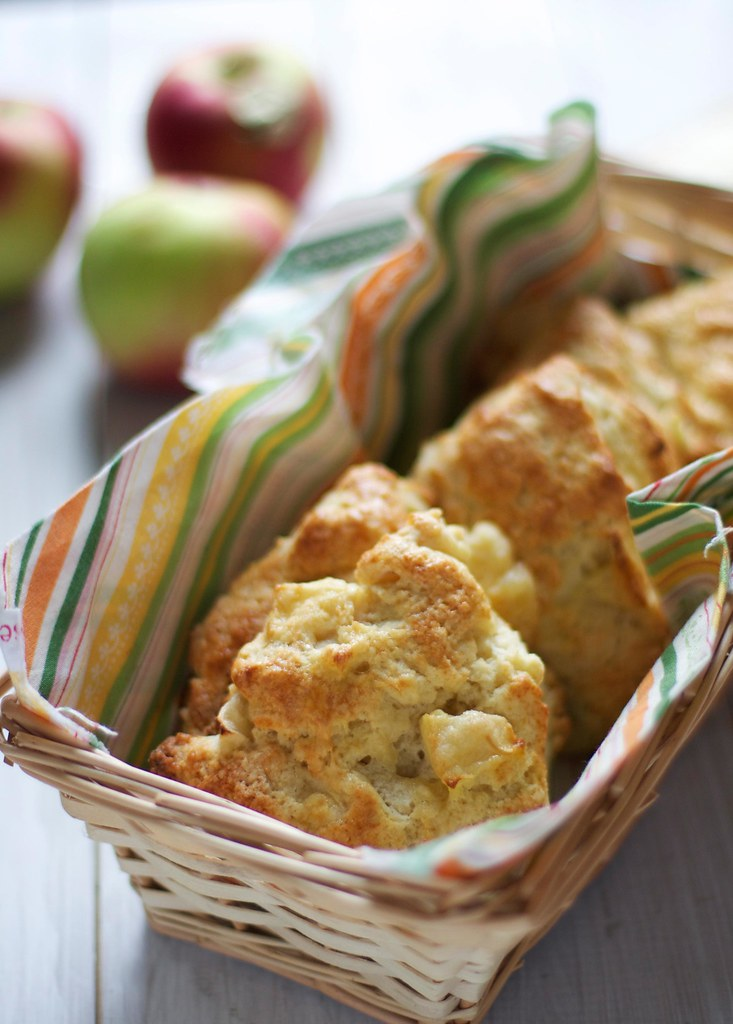 Apple Cheddar Scones via The Baker Chick