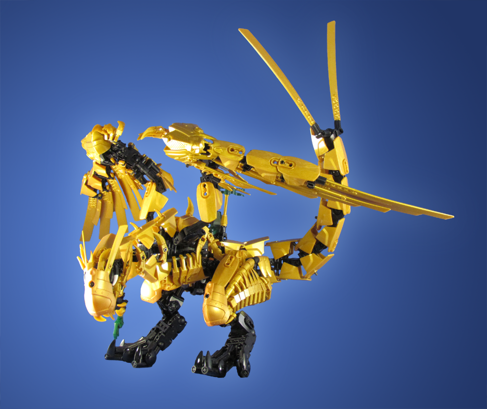 Commission ninjago golden dragon flickr photo sharing - Ninjago dragon d or ...