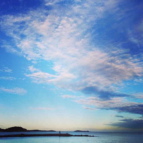 Beautiful #Ibiza skies in Santa Eulalia