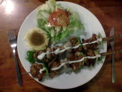 Rosemary chicken kebab