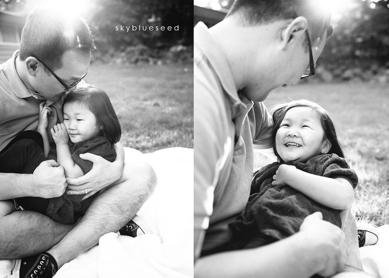 BW with daddy