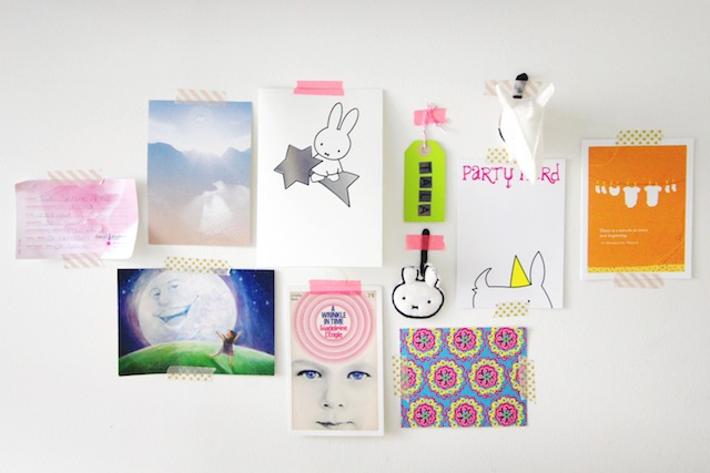 Washi taped cards