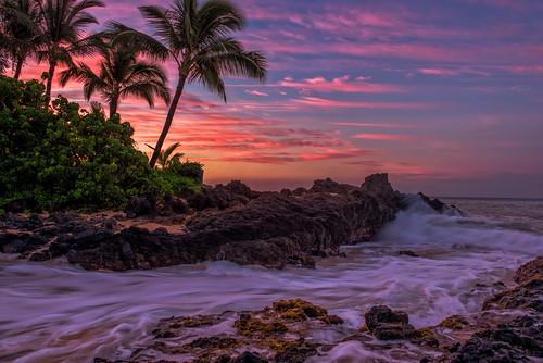 beach sunrise hawaii secretbeach maui makena weddingbeach nikon2470mm nikond800
