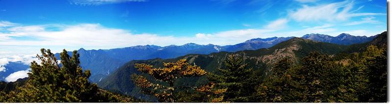 喀西帕南山頂西南眺南二段群峰 1