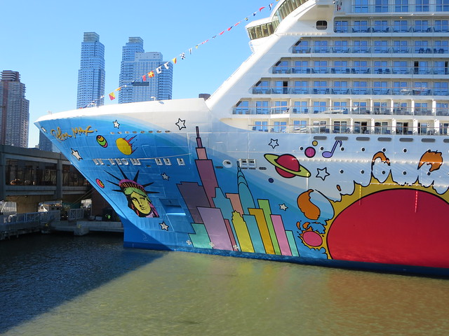 Artist Peter Max Design On The Norwegian Breakaway Cruise Ship Exterior | Flickr - Photo Sharing!