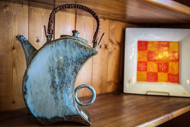 Quirky Tea Pot at the Tea Brewery --Mahone Bay, Nova Scoita