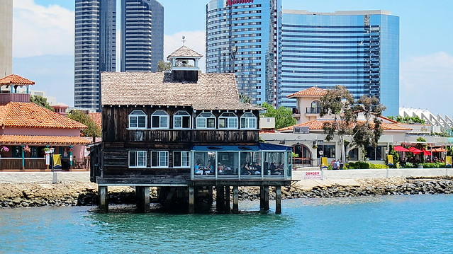 seaport village restaurant from dock san diego flickr