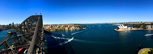 Looking out over Sydney Harbour