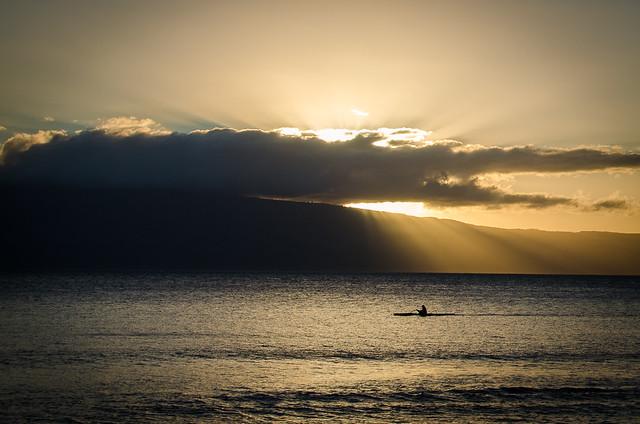 Kaanapali Beach at sunset, Maui