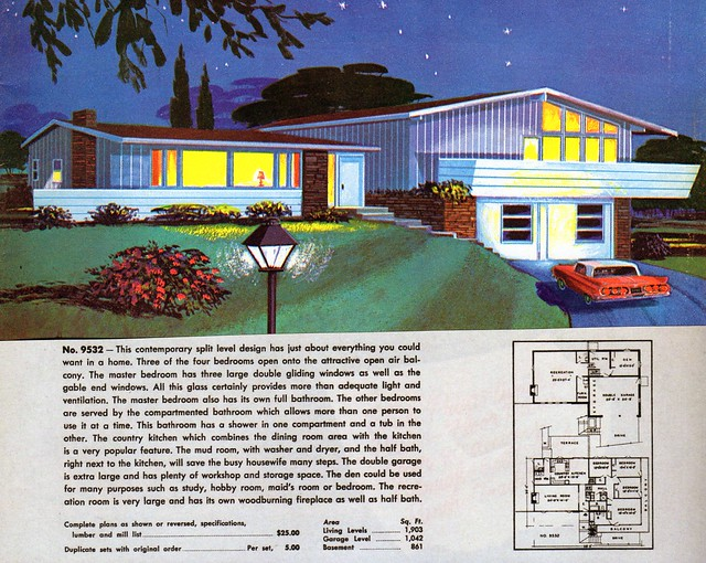 Mid century modern house plans a gallery on flickr for Mid century home plans