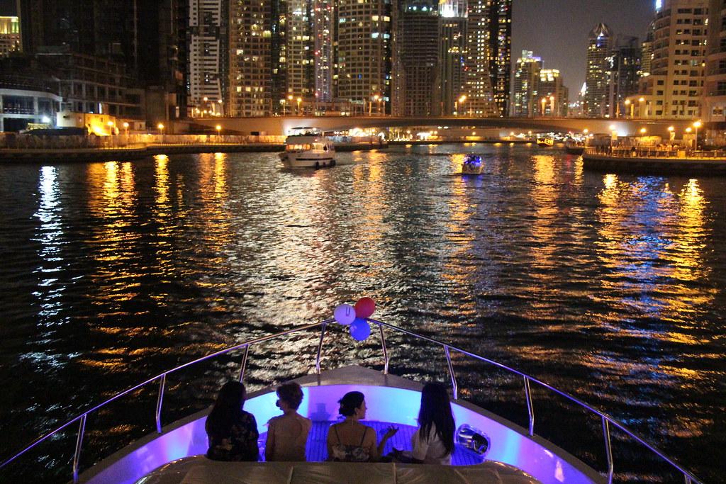 dubai marina, yacht