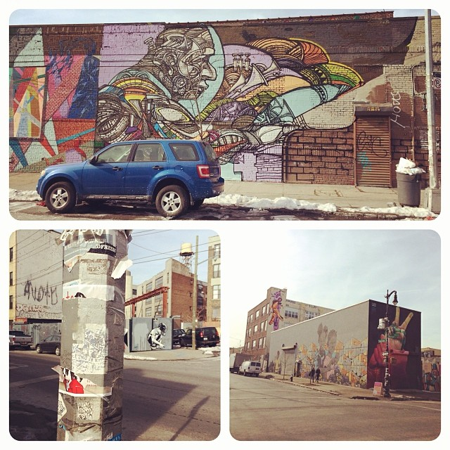 Artist playground: Every corner of Bushwick near Jefferson Street L stop is covered in art
