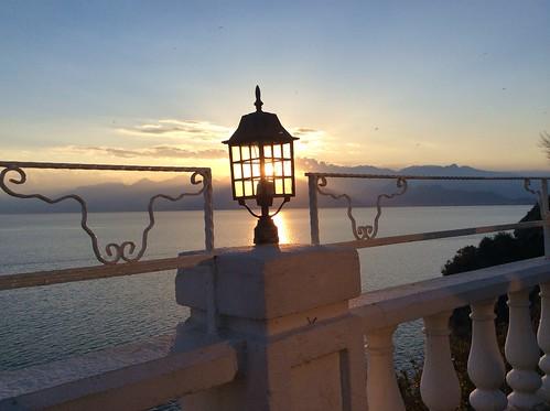日落 土耳其 地中海