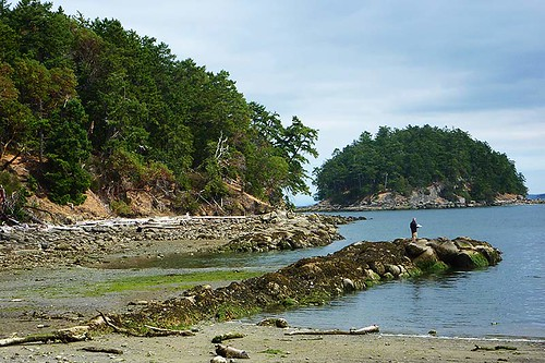 Bennet Bay on Mayne Island in Gulf Islands National Park, Southern Gulf Islands, British Columbia, Canada