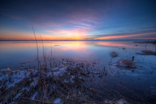 water sunrise river newjersey unitedstates nj atlanticcounty hdr 2014 portrepublic mullicariver canon6d