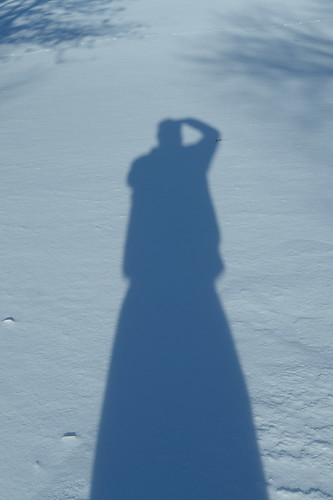 Winter shadow selfie