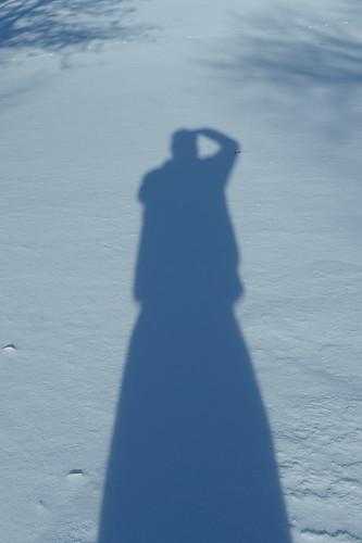 Winter shadow selfie