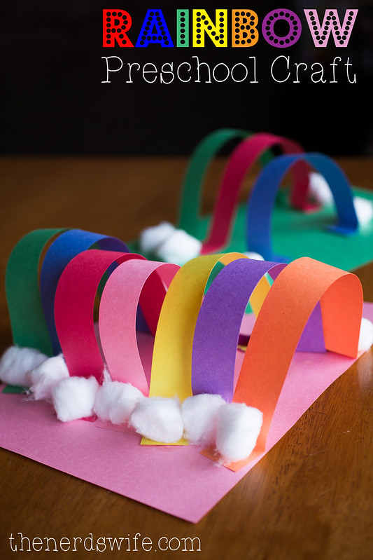 Rainbow Preschool Craft With Elmer S Early Learners The Nerd S Wife