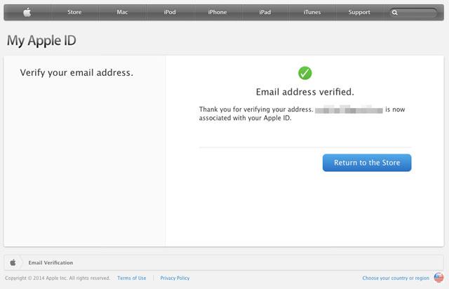 メールアドレス確認完了