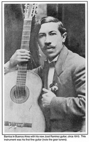 Barrios with Jose Ramirez guitar in 1910 by Poran111