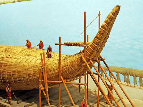 Boat building model, Pyramids de Guimar Ethnological Park, Tenerife