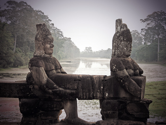 Angkor Wat on a misty morning