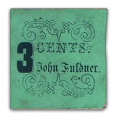 John Fuldner cardboard scrip